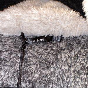 Doe & Rae Tops - Doe & Rae Teddy Half-Zip Pullover